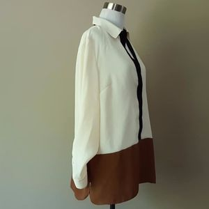 Talbots 1X Pullover TriColor Dress Blouse Workwear